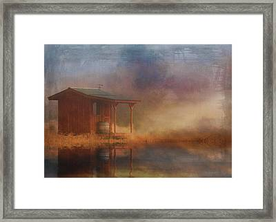 Rustic Cabin Framed Print by Stephanie Laird