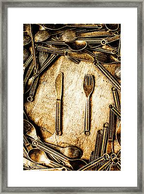Rustic Catering Framed Print
