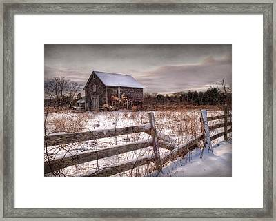 Rustic Chill Framed Print