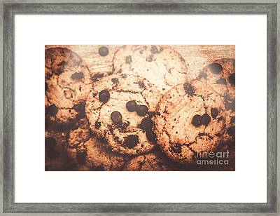 Rustic Chocolate Chip Cookie Snack Framed Print