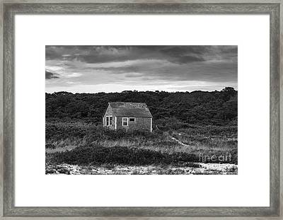 Rustic Coastal Cottage Framed Print by John Greim