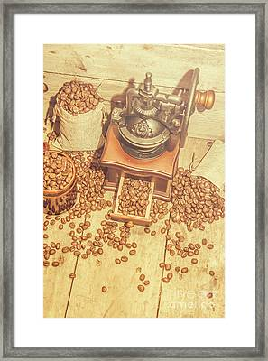 Rustic Country Coffee House Still Framed Print by Jorgo Photography - Wall Art Gallery