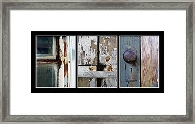 Rustic Elements Framed Print