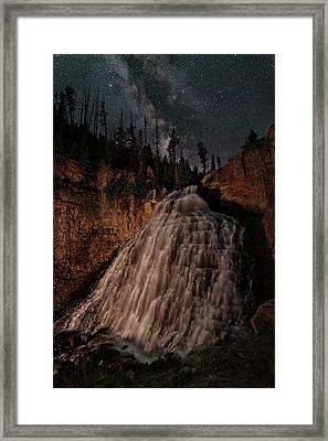 Rustic Falls Forever Framed Print