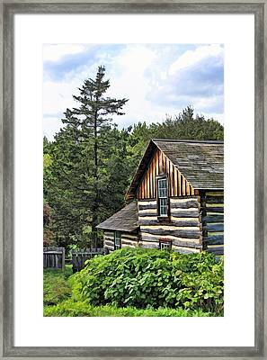 Rustic Farmhouse At Old World Wisconsin Framed Print