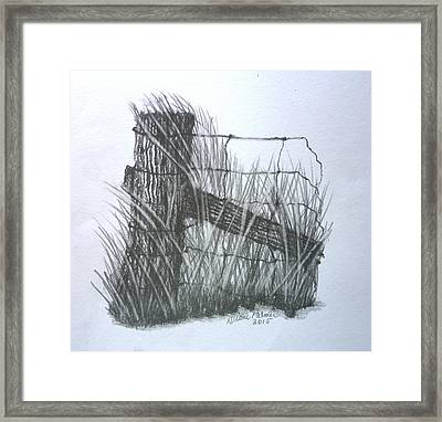 Rustic Fence Post Framed Print by Diane Palmer