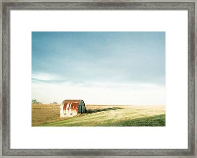 Rustic Fields Framed Print by Todd Klassy