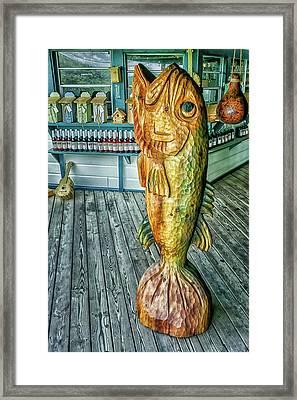 Rustic Fish Framed Print