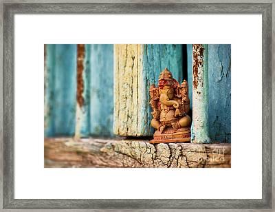 Rustic Ganesha Framed Print by Tim Gainey