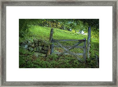 Rustic Gate Framed Print by Rick Mosher