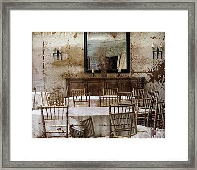Rustic Gathering Framed Print by Marcie Adams