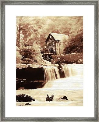 Rustic Glade Creek Grist Mill Framed Print by Dan Sproul