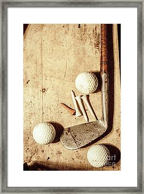 Rustic Golf Club Memorabilia Framed Print