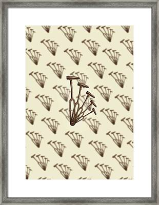 Framed Print featuring the photograph Rustic Hammer Pattern by YoPedro