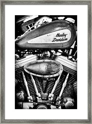 Rustic Harley Bobber Framed Print
