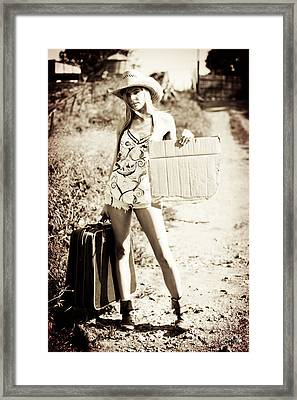 Rustic Hitchhiker Framed Print by Jorgo Photography - Wall Art Gallery