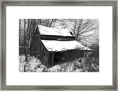 Rustic Home Bw Framed Print by Lloyd Alexander
