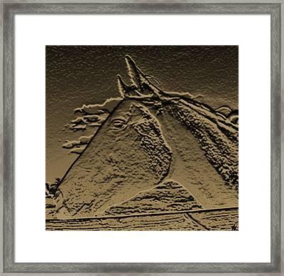 Rustic Horse Profile Framed Print