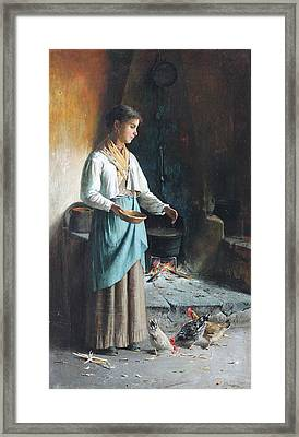 Rustic Kitchen. Framed Print by MotionAge Designs