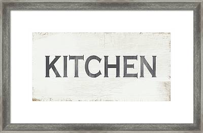 Rustic Kitchen Sign- Art By Linda Woods Framed Print by Linda Woods