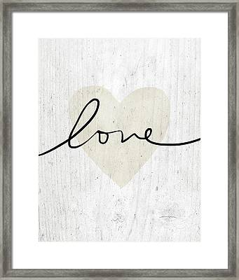 Rustic Love Heart- Art By Linda Woods Framed Print by Linda Woods