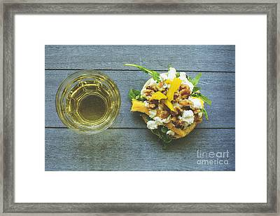 Rustic Lunch With Goat Cheese Framed Print by Patricia Hofmeester