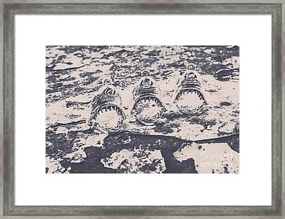 Rustic Nautical Artwork Framed Print
