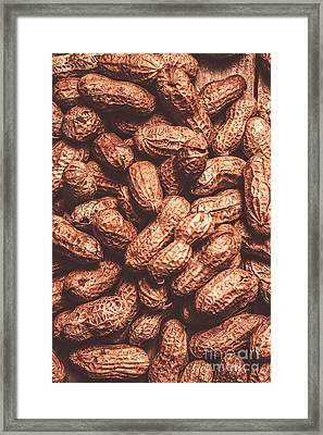 Rustic Nuts Background  Framed Print by Jorgo Photography - Wall Art Gallery