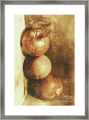 Rustic Old Apple Box Framed Print