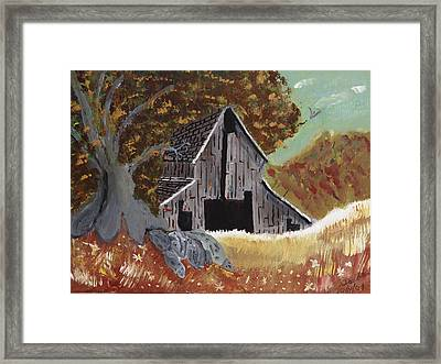 Rustic Old Barn Framed Print