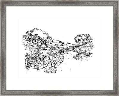 Rustic Path Framed Print by Andrew Drozdowicz