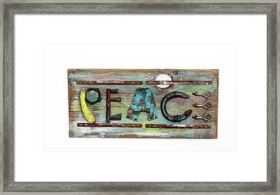Rustic Peace Framed Print