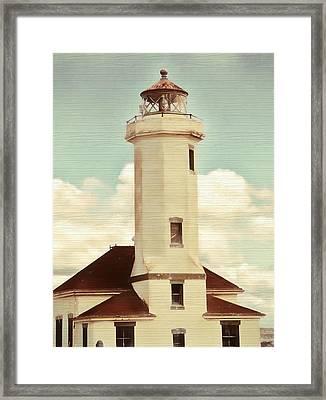 Rustic Point Light Framed Print