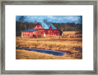 Rustic Red Barn Framed Print