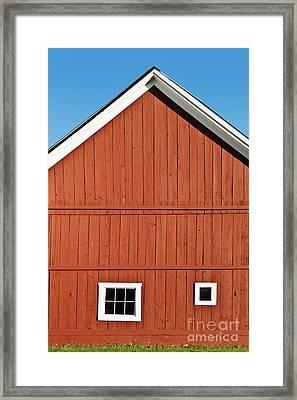 Rustic Red Barn Framed Print by John Greim
