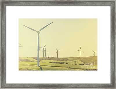 Rustic Renewables Framed Print