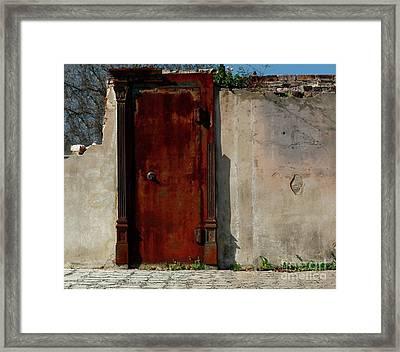 Framed Print featuring the photograph Rustic Ruin by Lori Mellen-Pagliaro