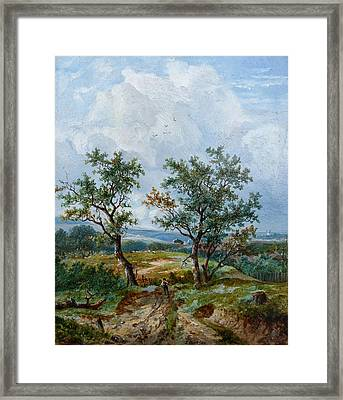 Rustic Scene Framed Print by MotionAge Designs