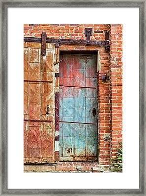 Rustic Slider Framed Print by Kelley King