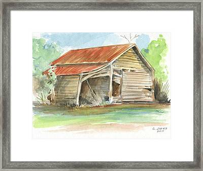 Rustic Southern Barn Framed Print
