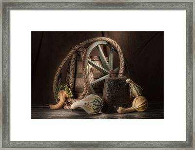 Rustic Still Life Framed Print by Tom Mc Nemar
