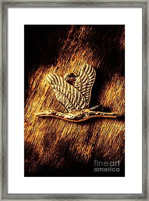 Rustic Stork Pendant Framed Print