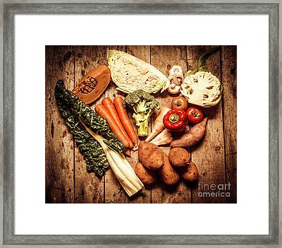 Rustic Style Country Vegetables Framed Print by Jorgo Photography - Wall Art Gallery