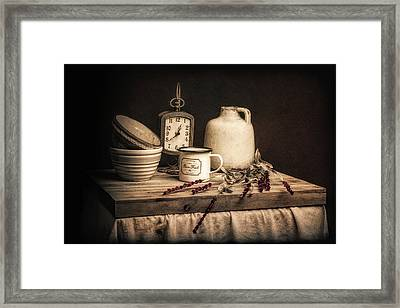 Rustic Table Setting Still Life Framed Print