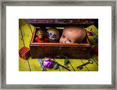 Rustic Toy Box Framed Print by Garry Gay