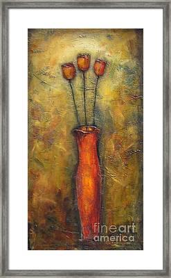 Rustic Tulips Framed Print