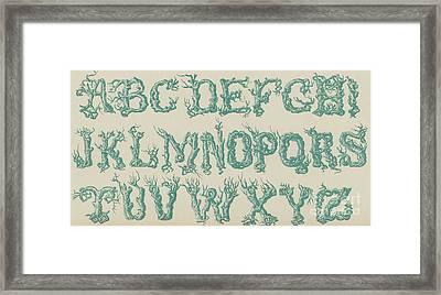Rustic Vine Font Capital Letters Framed Print