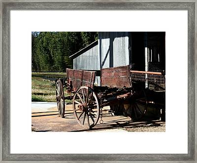 Rustic Wagon Framed Print by Cathy Harper