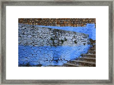 Framed Print featuring the photograph Rustic Wall by Ramona Johnston