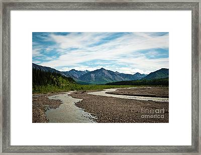 Rustic Water Framed Print